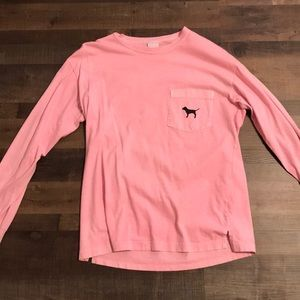Pink long sleeved top